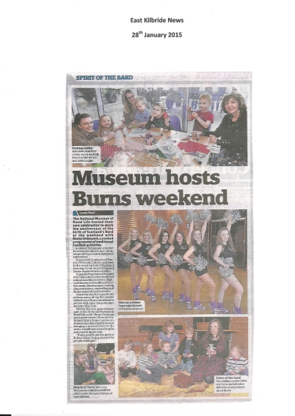 Burns Unboound - East Kilbride News 28th Jan
